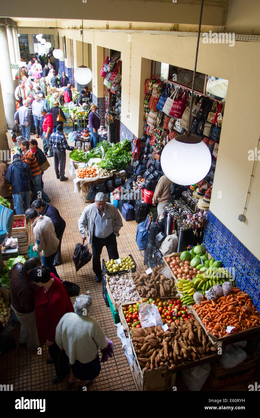 Labradores market, Funchal, Madeira, Portugal - Stock Image