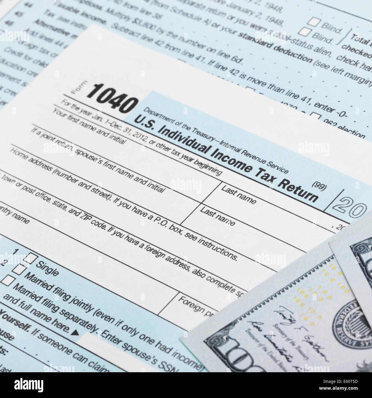 Us 1040 Tax Form Neat Stock Photos Us 1040 Tax Form Neat Stock