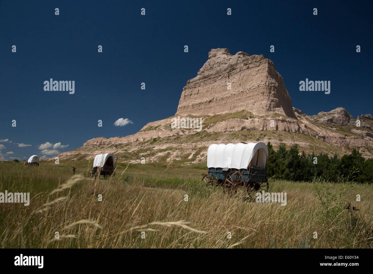 Scottsbluff, Nebraska - Scotts Bluff National Monument. - Stock Image