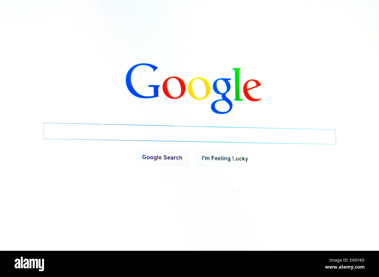 AUCKLAND - AUG 10 2014:Google homepage.Google estimates that an ad ...