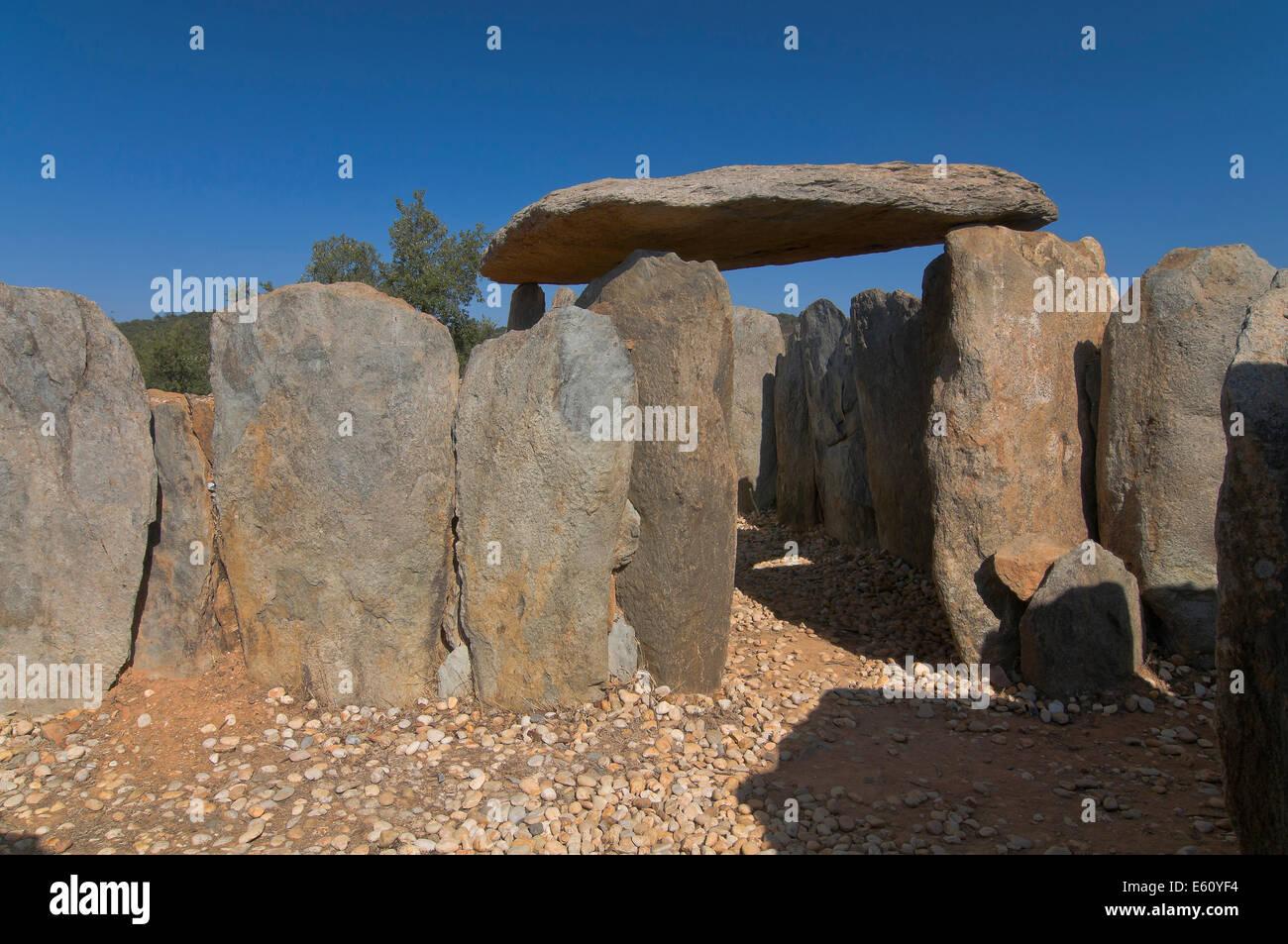 Dolmens of El Pozuelo - betwen 2500-2200 BC, Zalamea La Real. Huelva province, Region of Andalusia, Spain, Europe Stock Photo