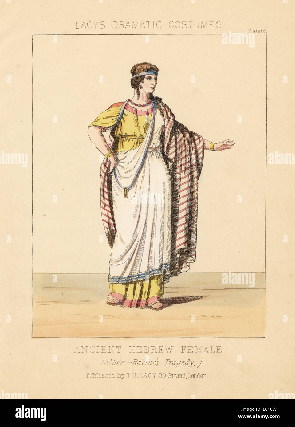 Ancient Hebrew female costume from Jean Racine's tragedy Esther. - Stock Image