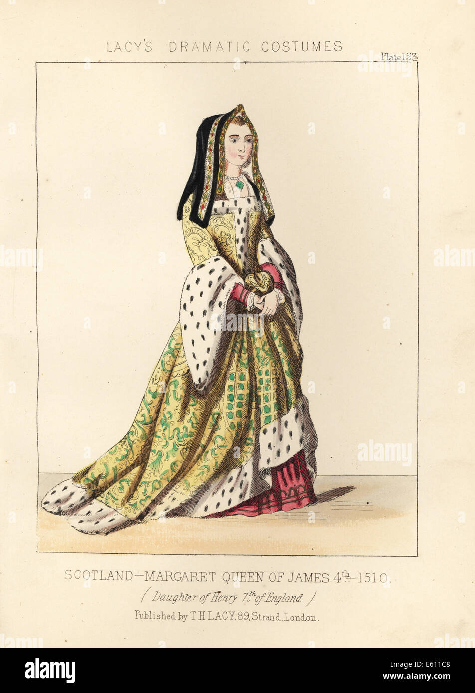 Margaret, Queen of King James IV of Scotland, 1510. - Stock Image