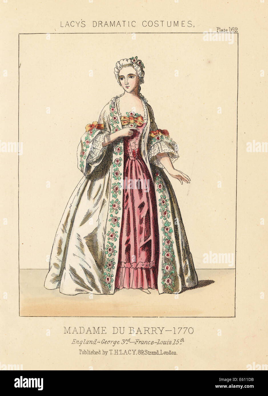 Jeanne Becu, Madame du Barry, lady of rank, 1760. - Stock Image