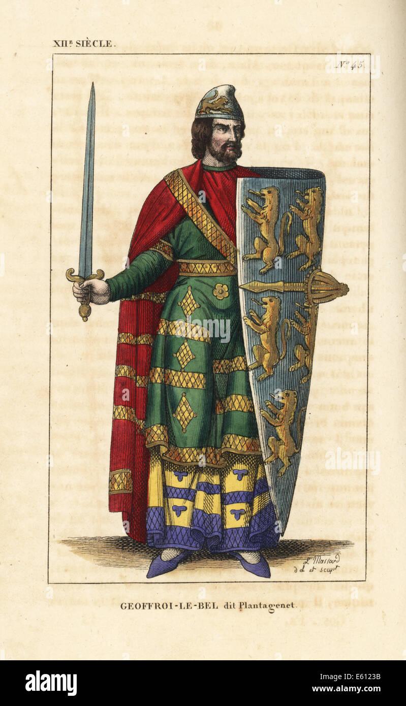 Geoffrey V, Plantagenet, Count of Anjou, 1113-1151. - Stock Image