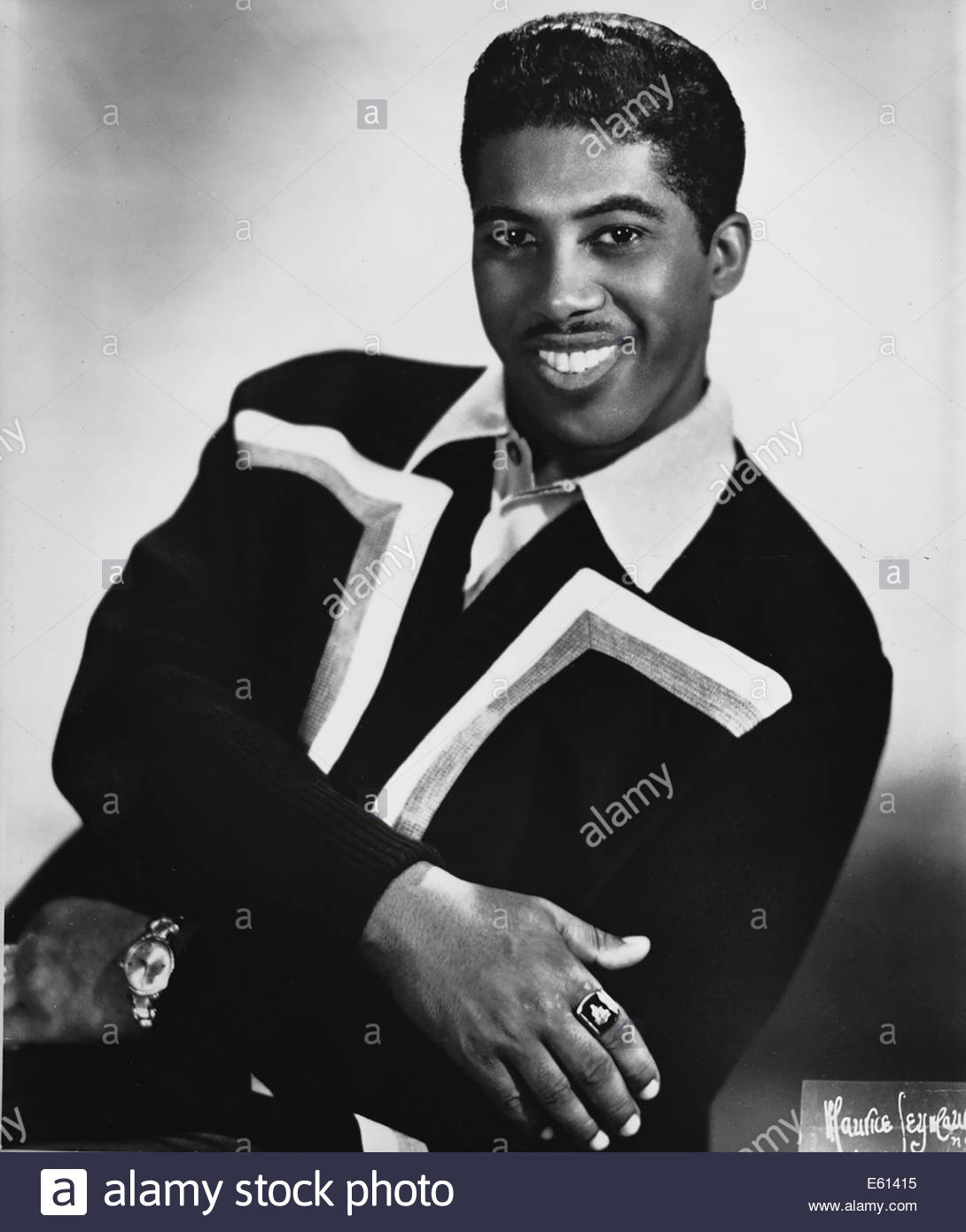 BEN E. KING, American soul singer, circa 1960s. Courtesy Granamour Weems Collection.  Editorial use only. - Stock Image