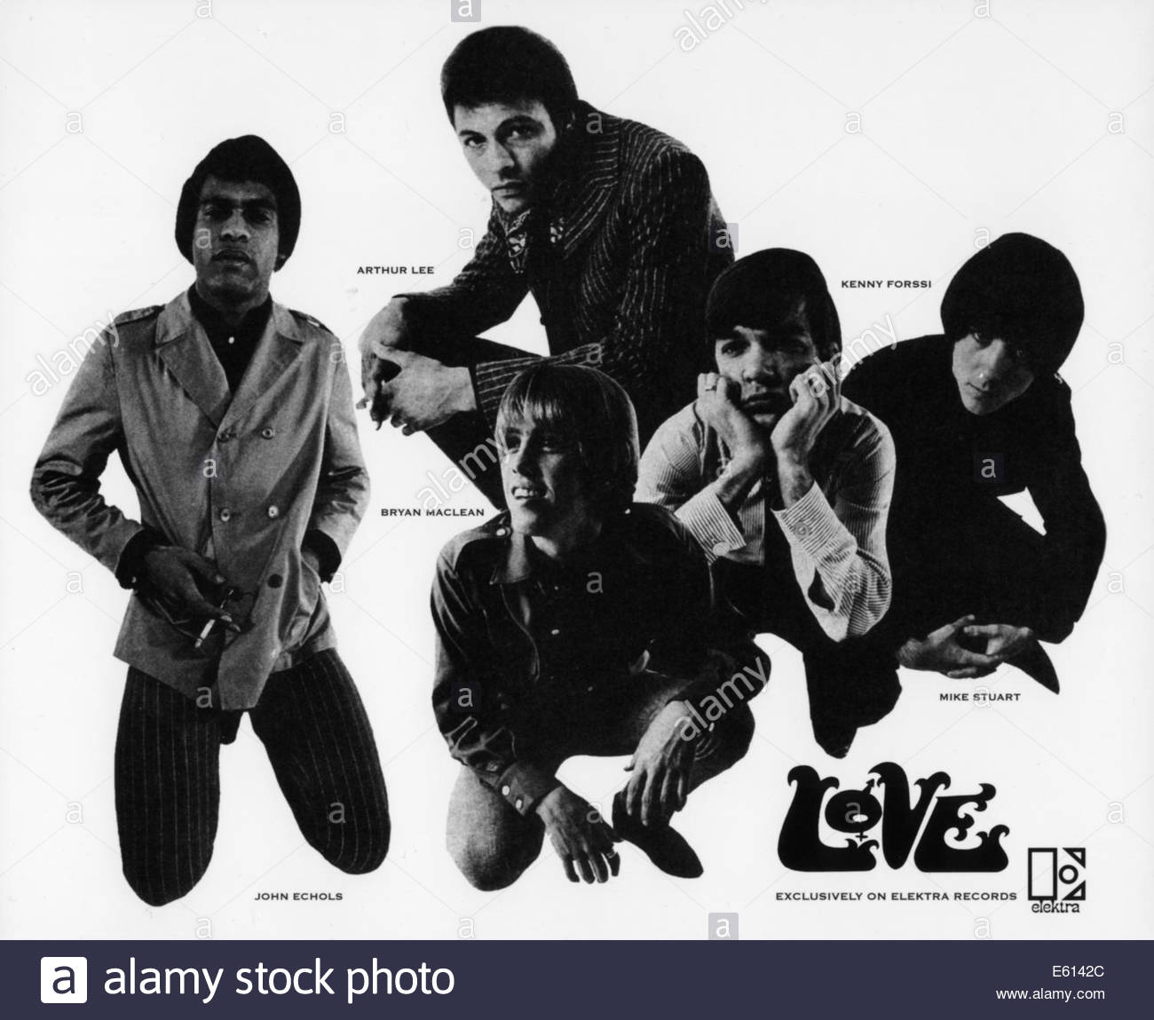 LOVE, the band circa 1960s featuring Arthur Lee.  Courtesy Granamour Weems Collection. - Stock Image