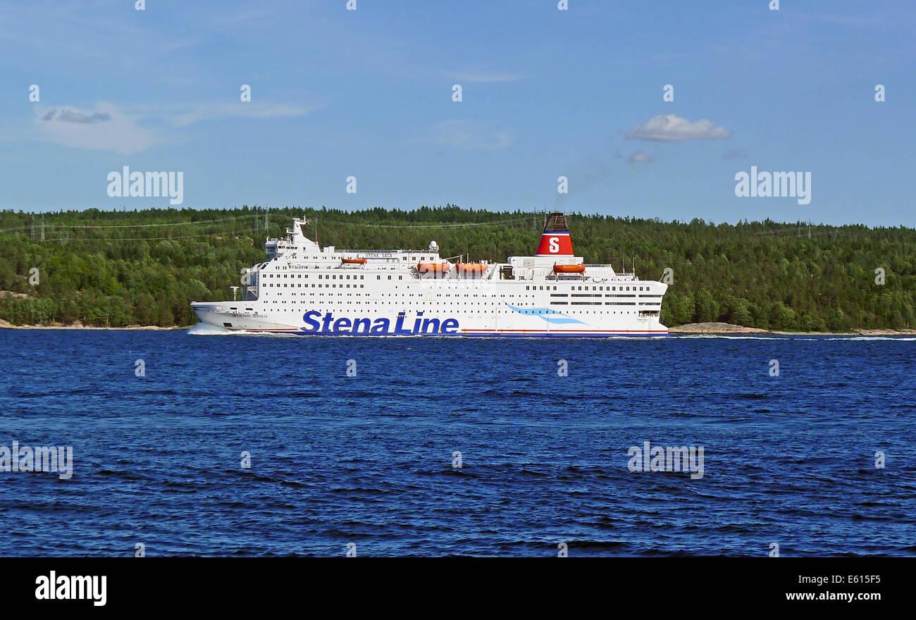 Stena Line Stena Saga in Oslofjord Norway - Stock Image