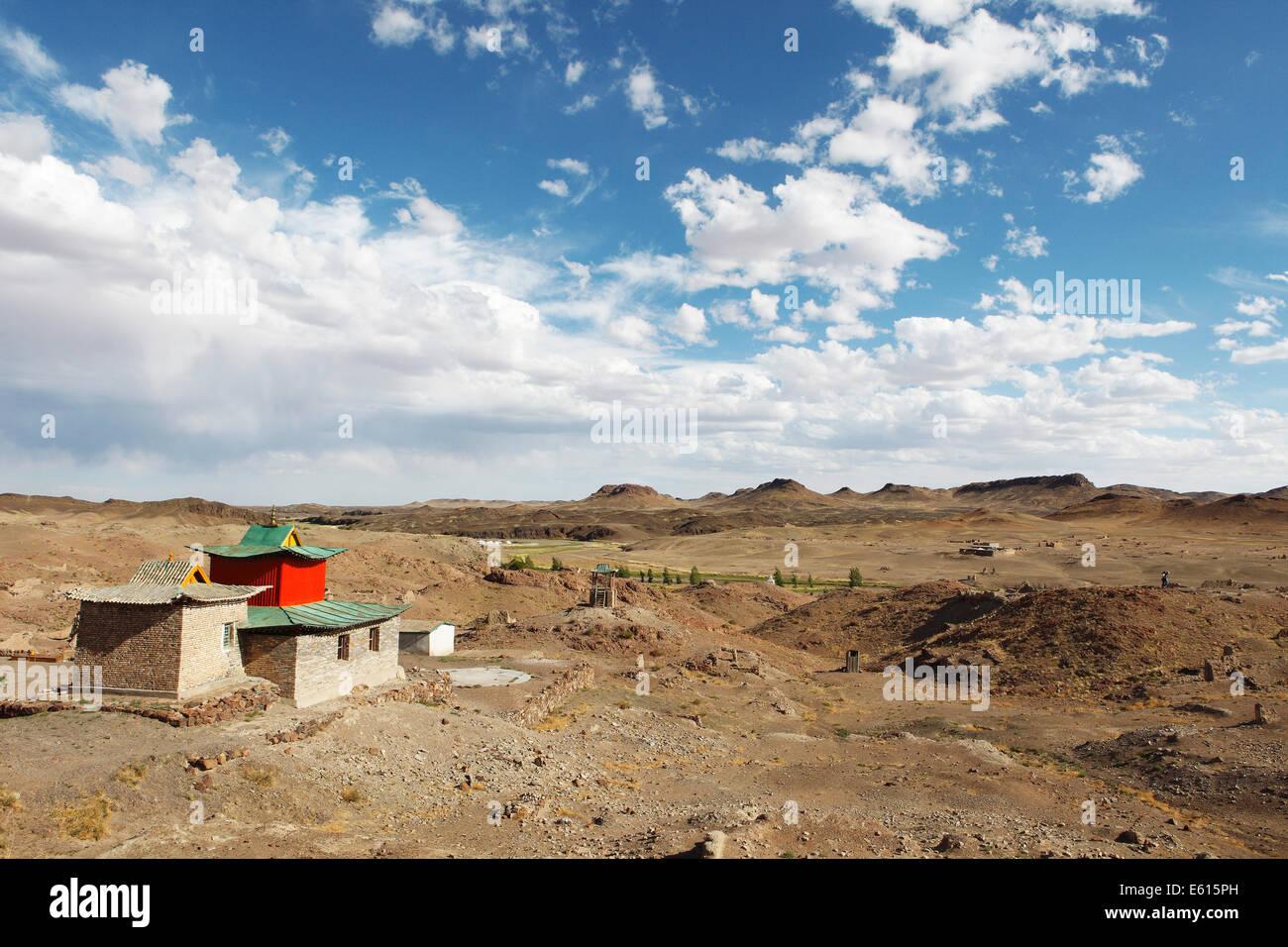 Ongi Khiid Monastery, Ongi river valley, Central Desert, Dundgovi Province, Mongolia - Stock Image