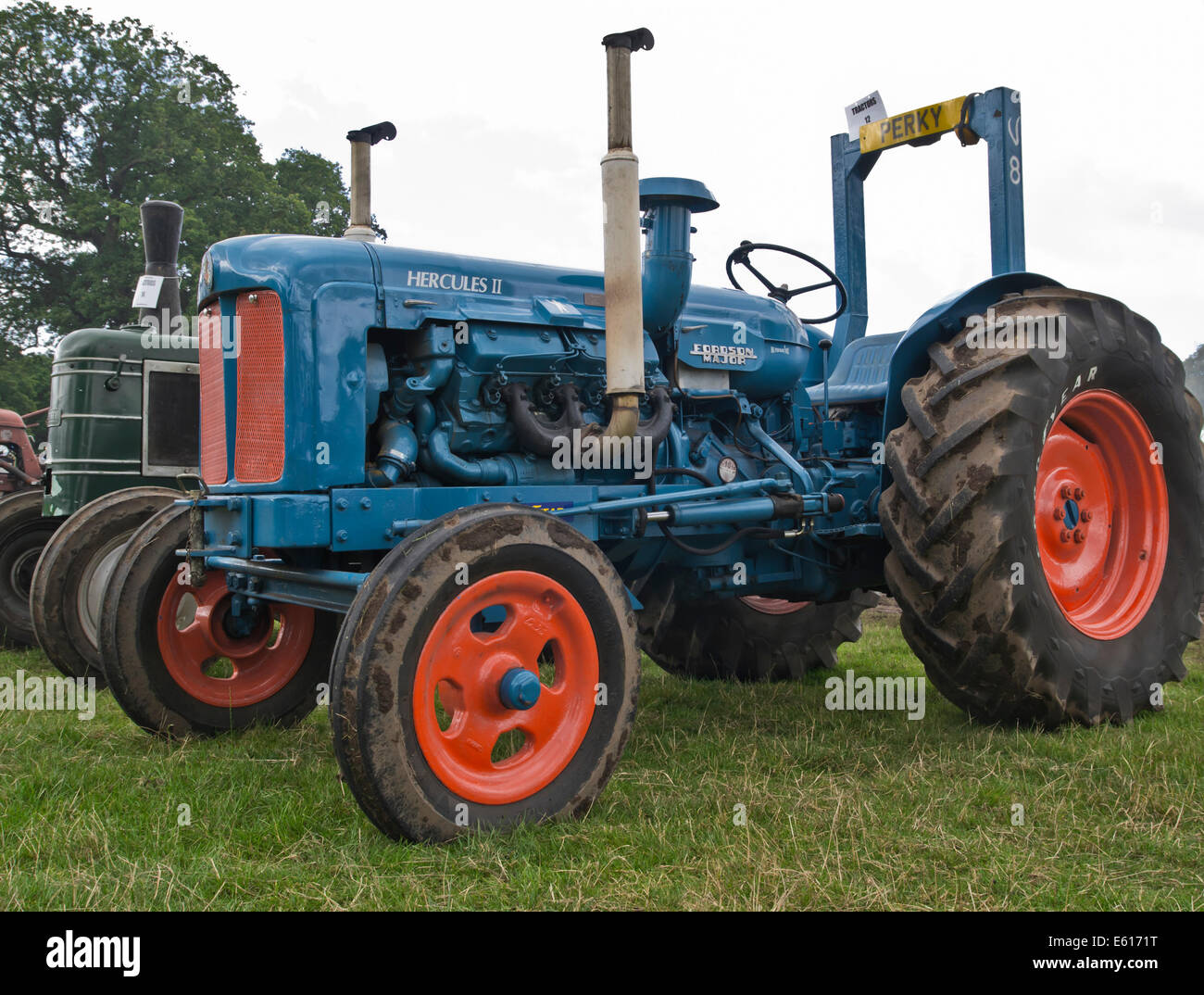 V8 Antique Tractors : Modified fordson major v tractor at vintage show