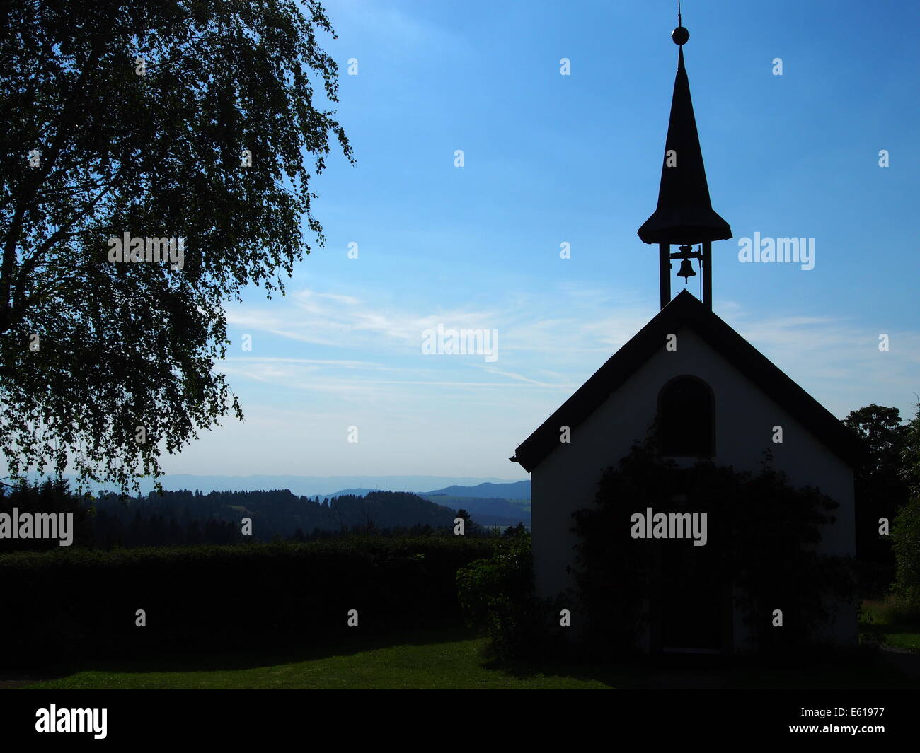 A photo of a little chapel in Black Forrest, Germany. Stock Photo