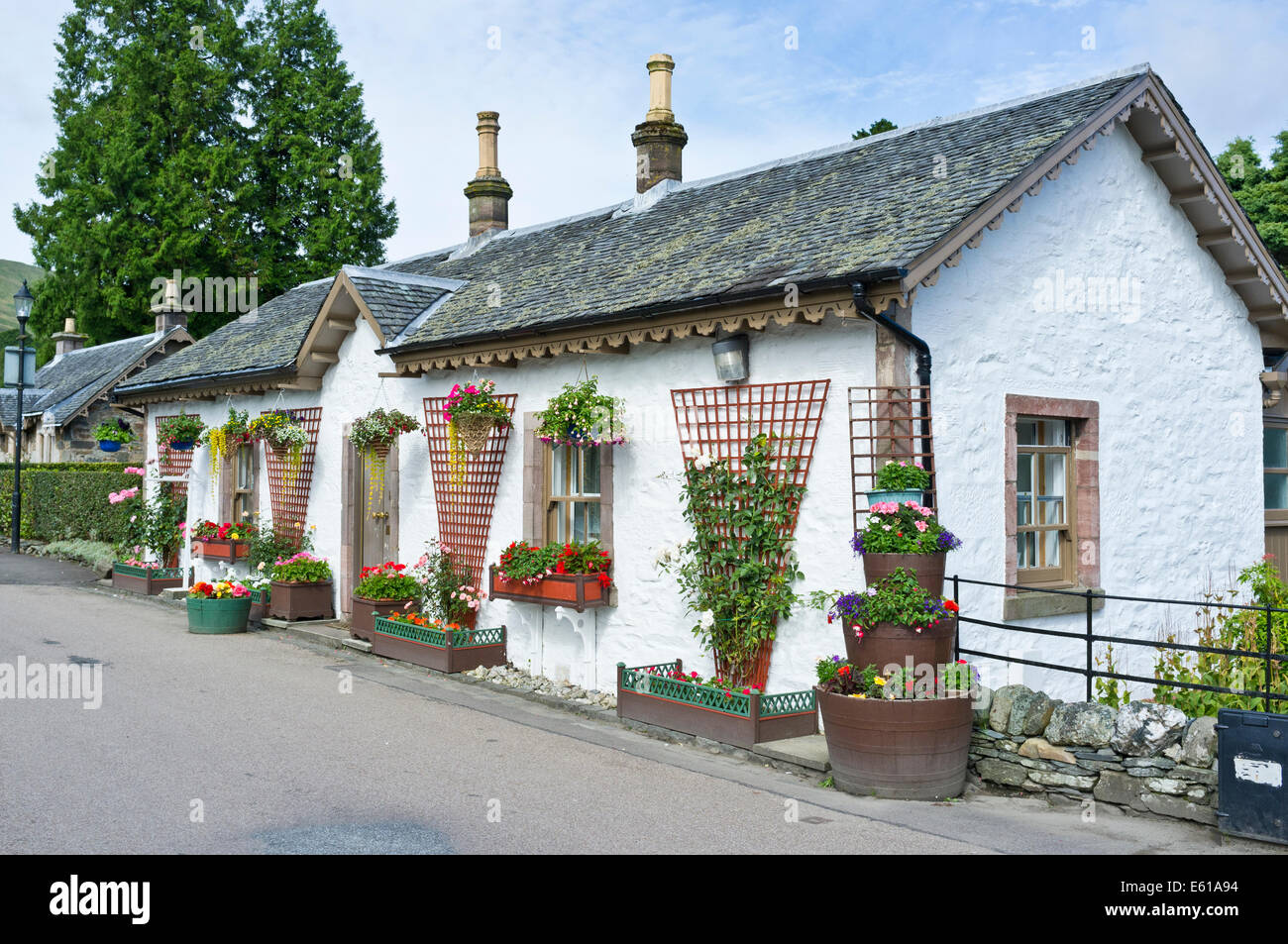 Picturesque Cottage at Luss in Argyll and Bute Scotland; - Stock Image