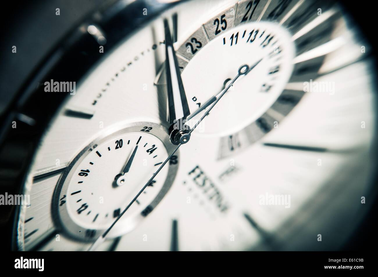 clock time watch fashion hours minutes seconds - Stock Image