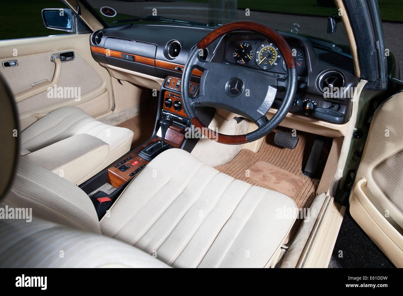 1980 mercedes 280ce e class coupe luxury german car interior stock photo 72561941 alamy - Mercedes e coupe interior ...