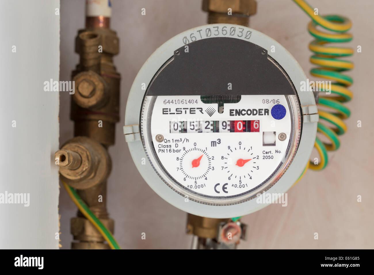 Domestic UK water meter - Stock Image