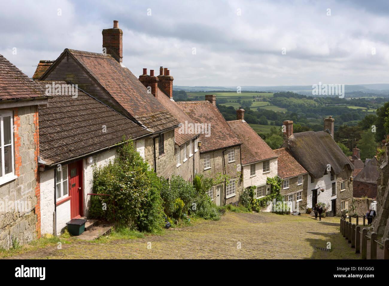 UK England, Dorset, Shaftesbury, Gold Hill - Stock Image