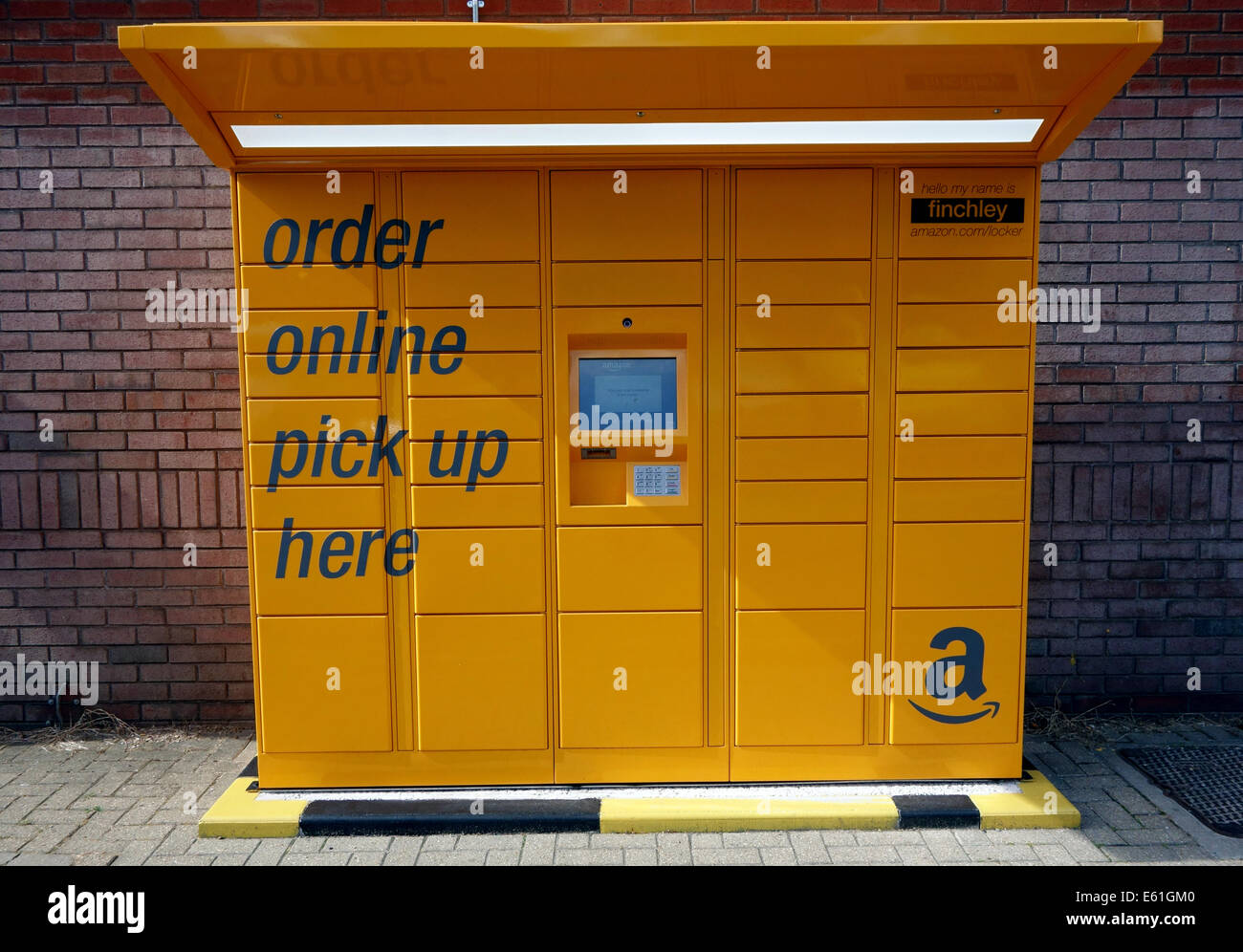 amazon click collect lockers at finchley central underground stock photo 72564464 alamy. Black Bedroom Furniture Sets. Home Design Ideas