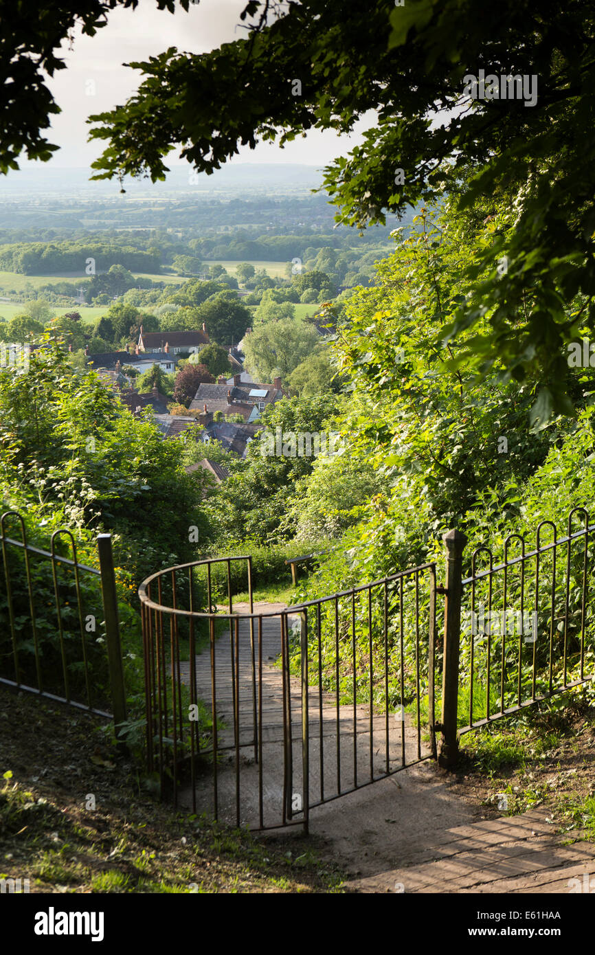 UK England, Dorset, Shaftesbury, Castle Hill, path to Enmore Green - Stock Image