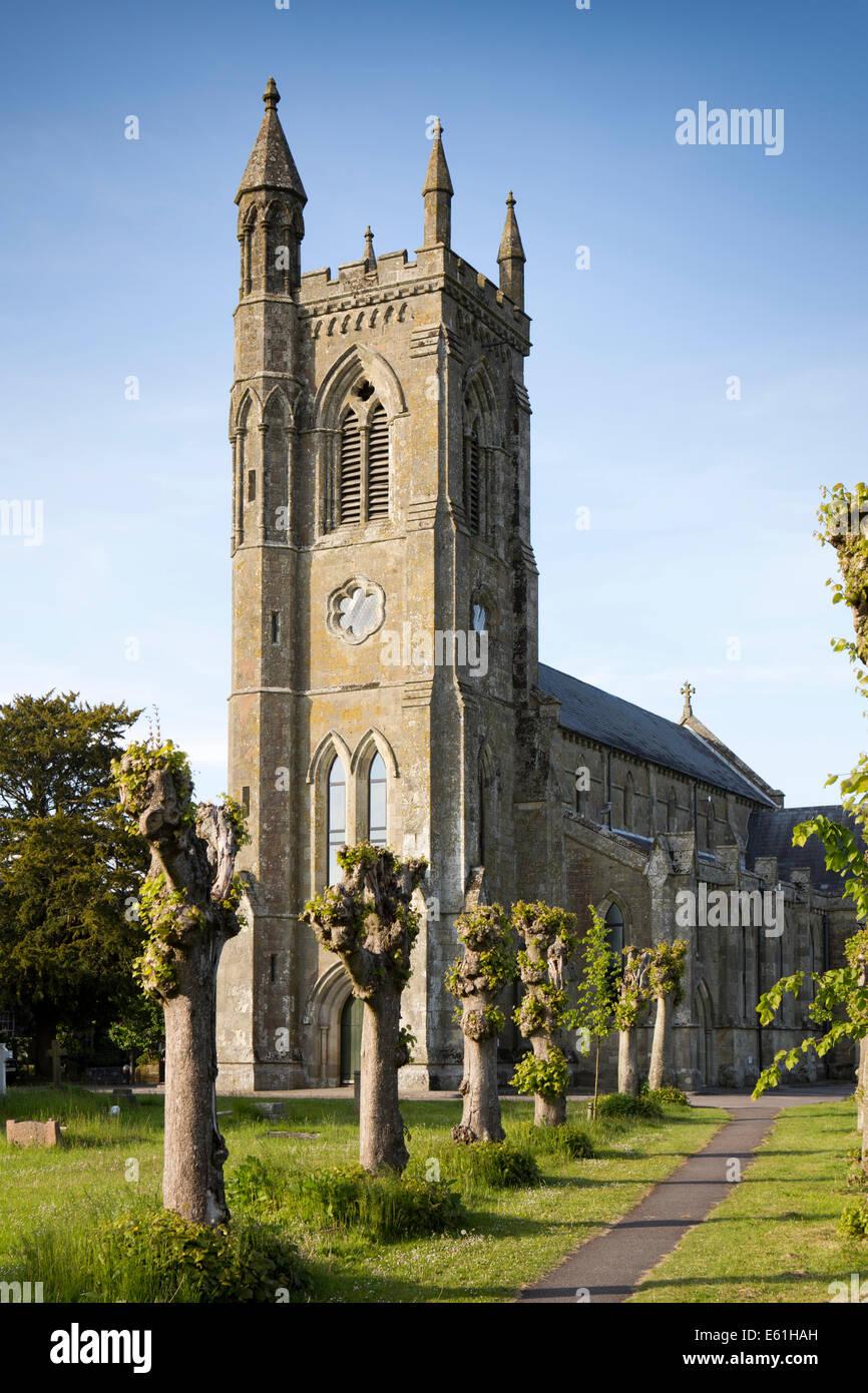 UK England, Dorset, Shaftesbury, Holy Trinity redundant town centre church - Stock Image