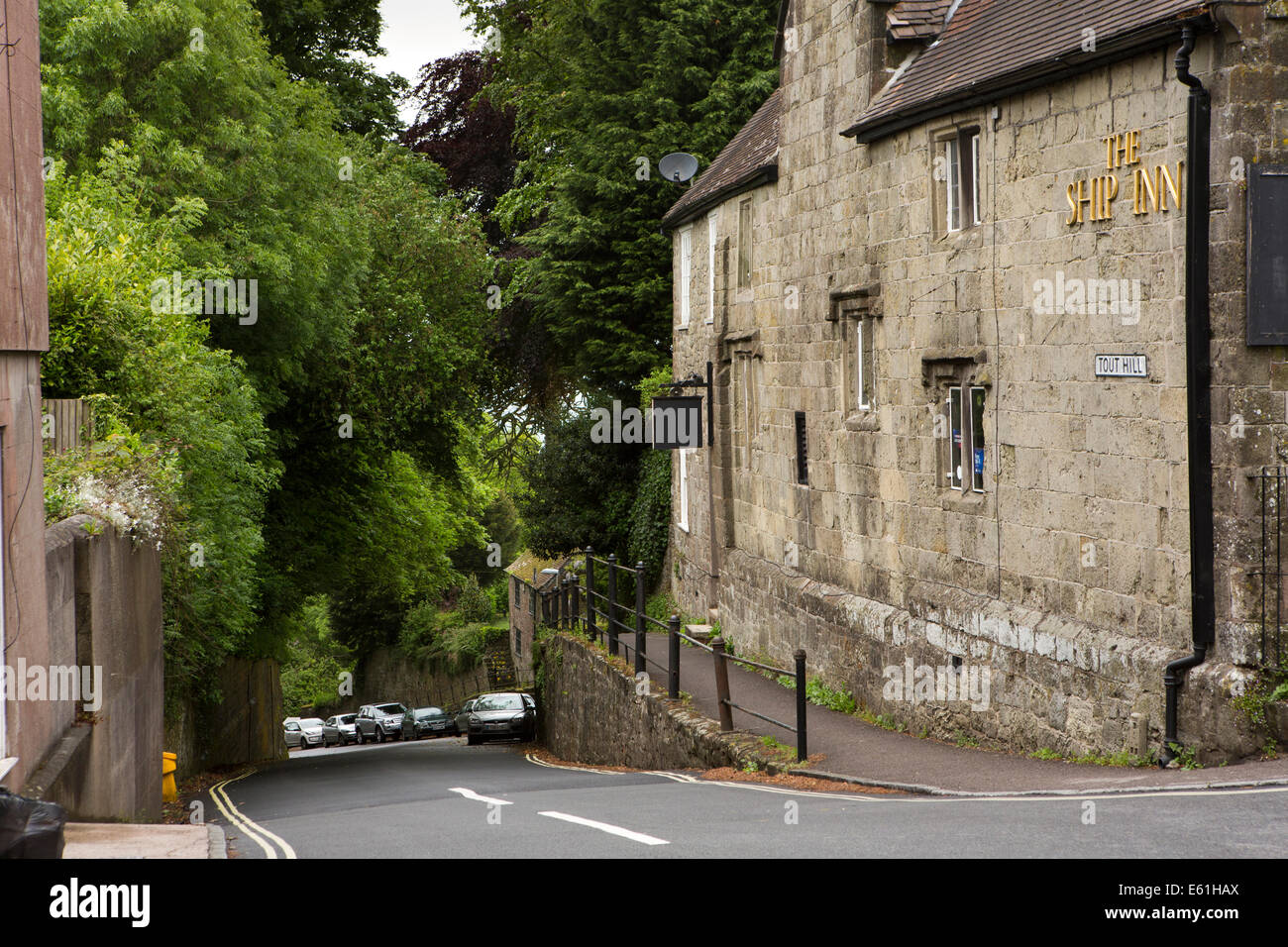 UK England, Dorset, Shaftesbury, Tout Hill, the route where water was brought up to the town - Stock Image