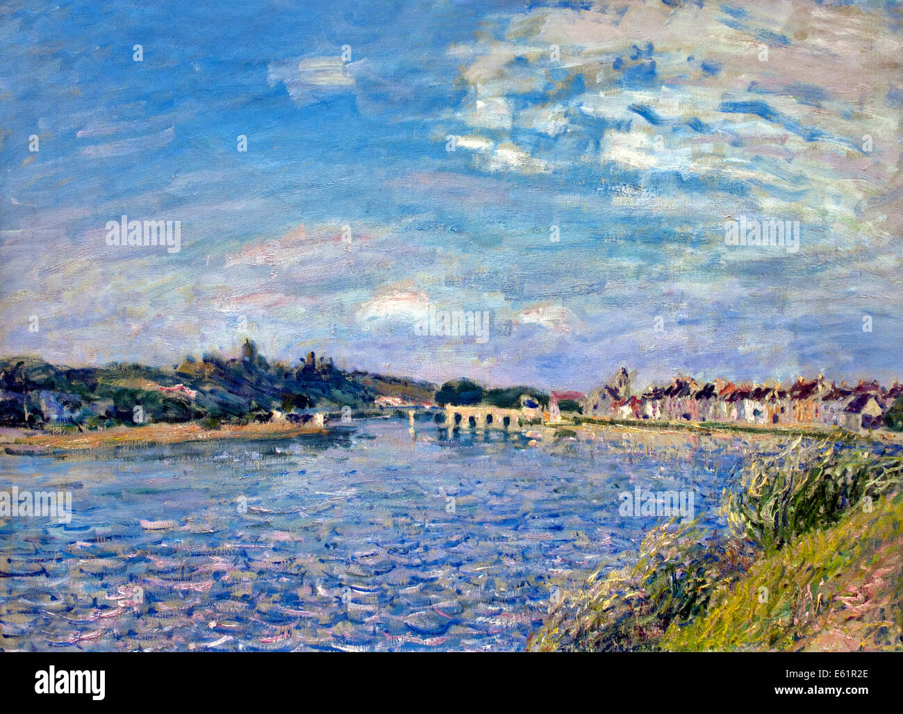 Saint Mammes sur le loing 1886 Alfred Sisley 1839 - 1899 British / French Impressionist France - Stock Image