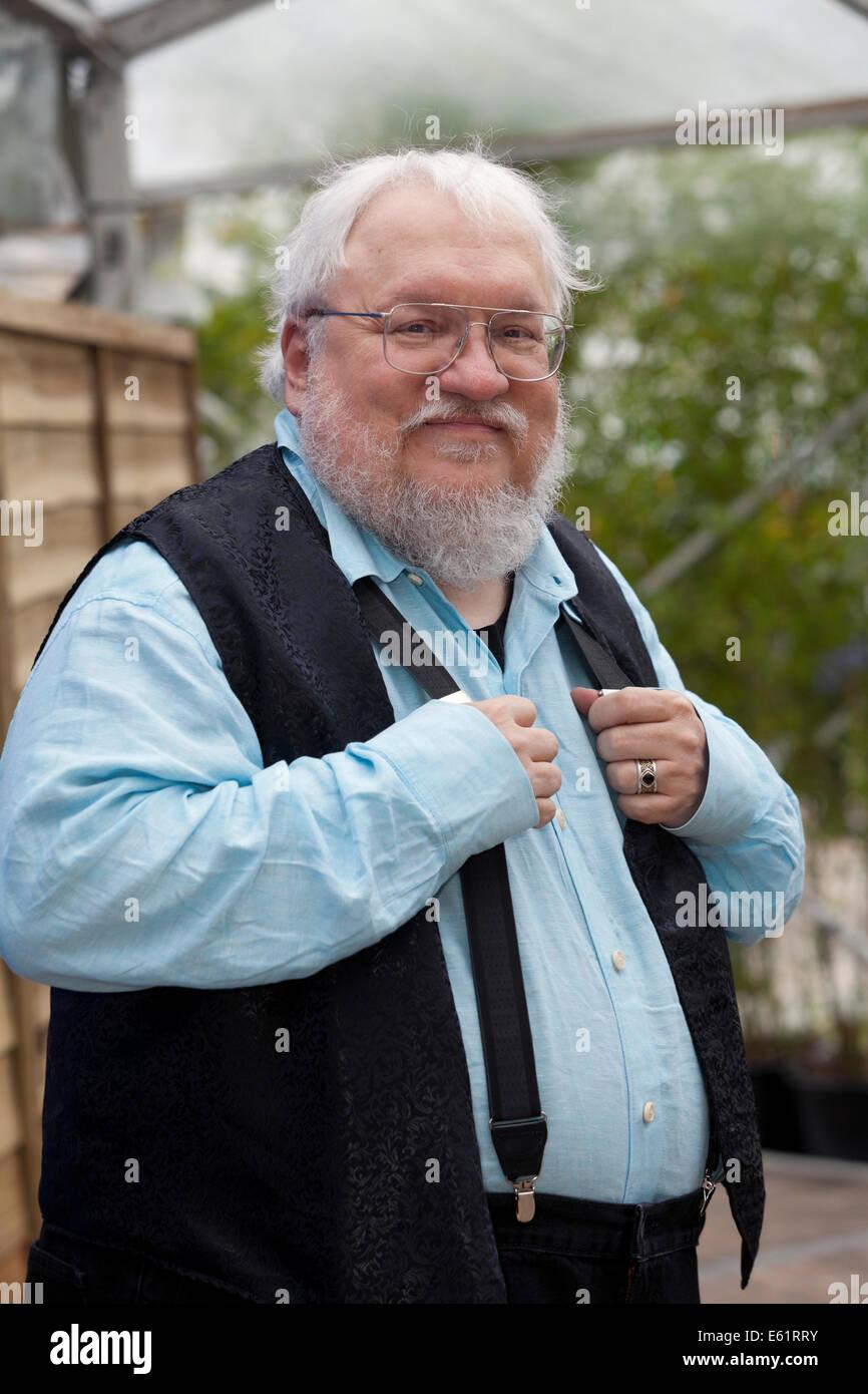 Edinburgh, Scotland, UK. 11th Aug, 2014. George R.R. Martin, 'Game of Thrones' author, at the Edinburgh - Stock Image