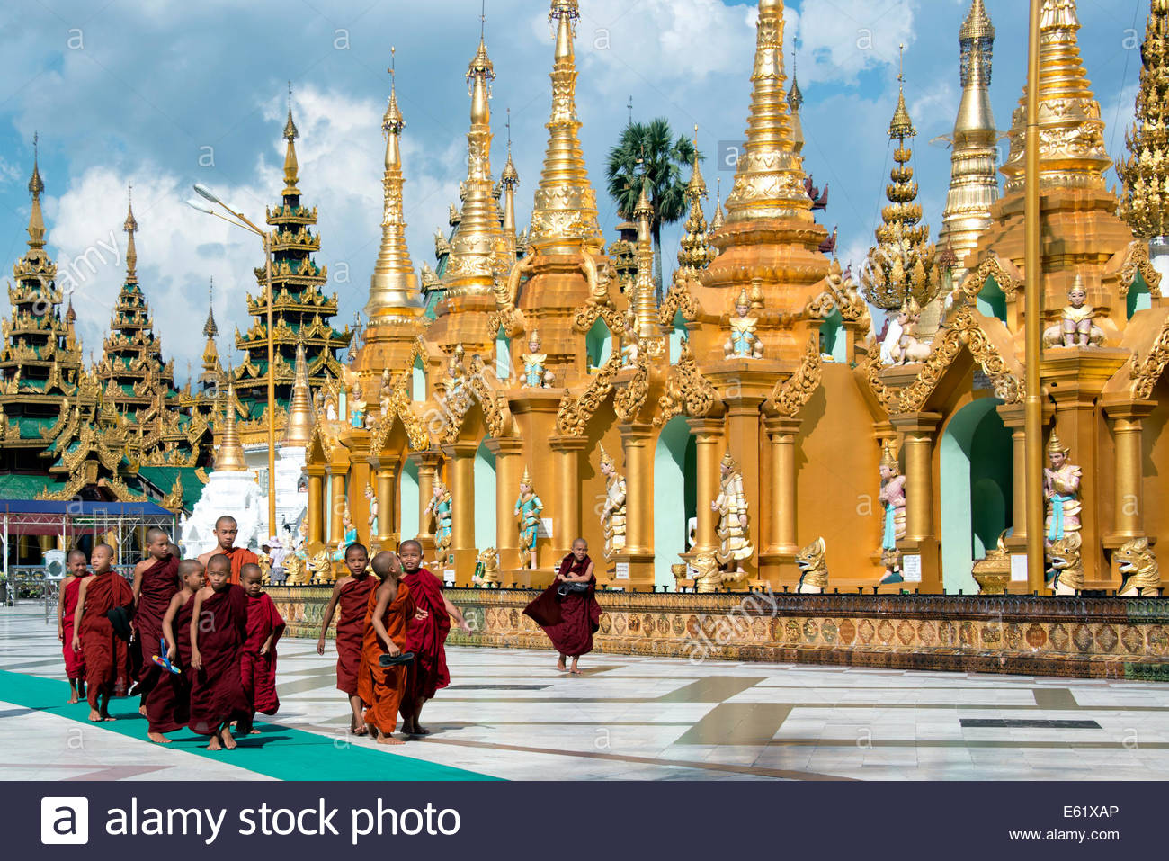 Shwedagon Pagoda Yangon Myanmar (Burma) Stock Photo