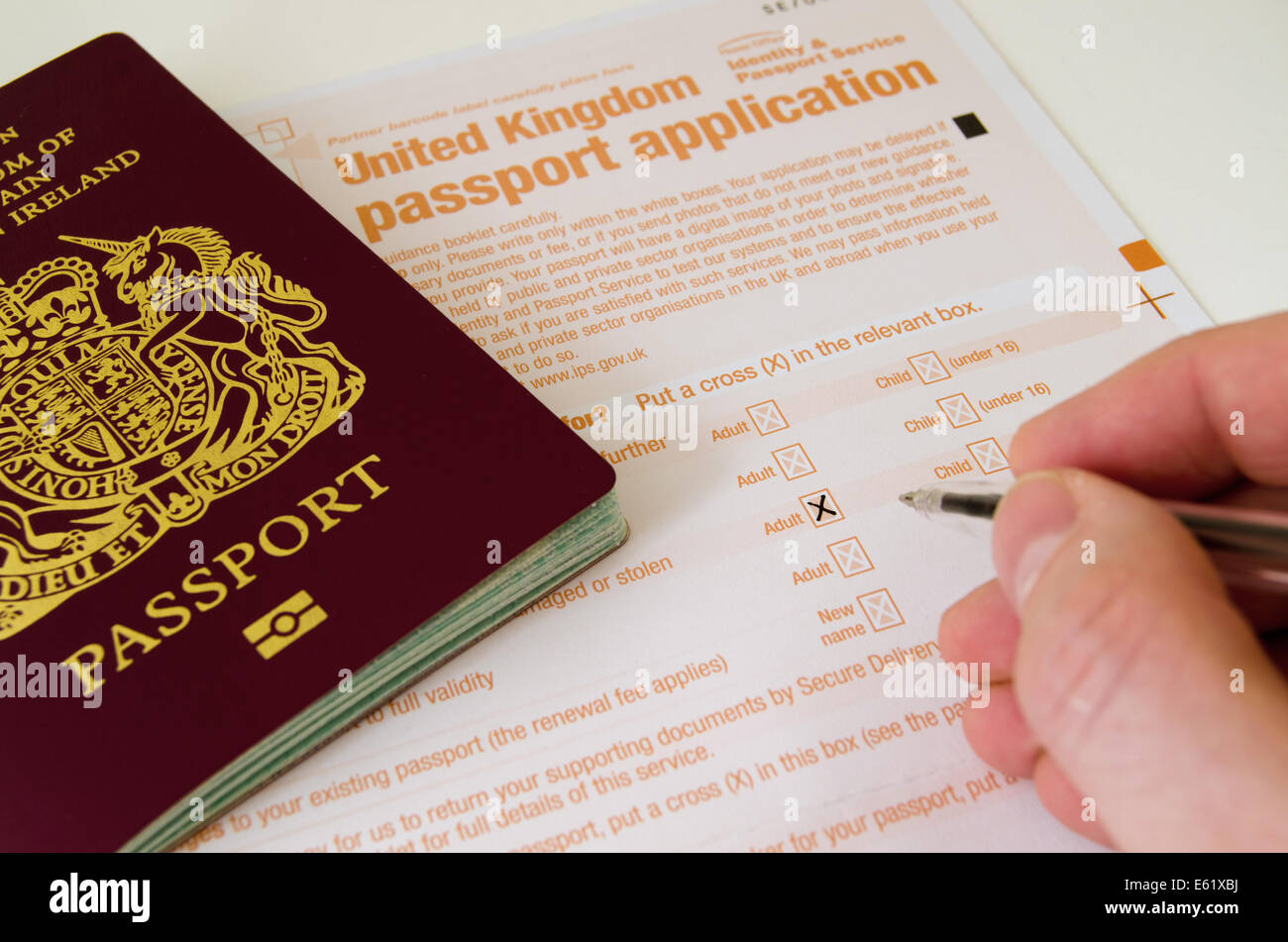 British Passport Application Form To Print, Completing A United Kingdom Passport Application Form, British Passport Application Form To Print