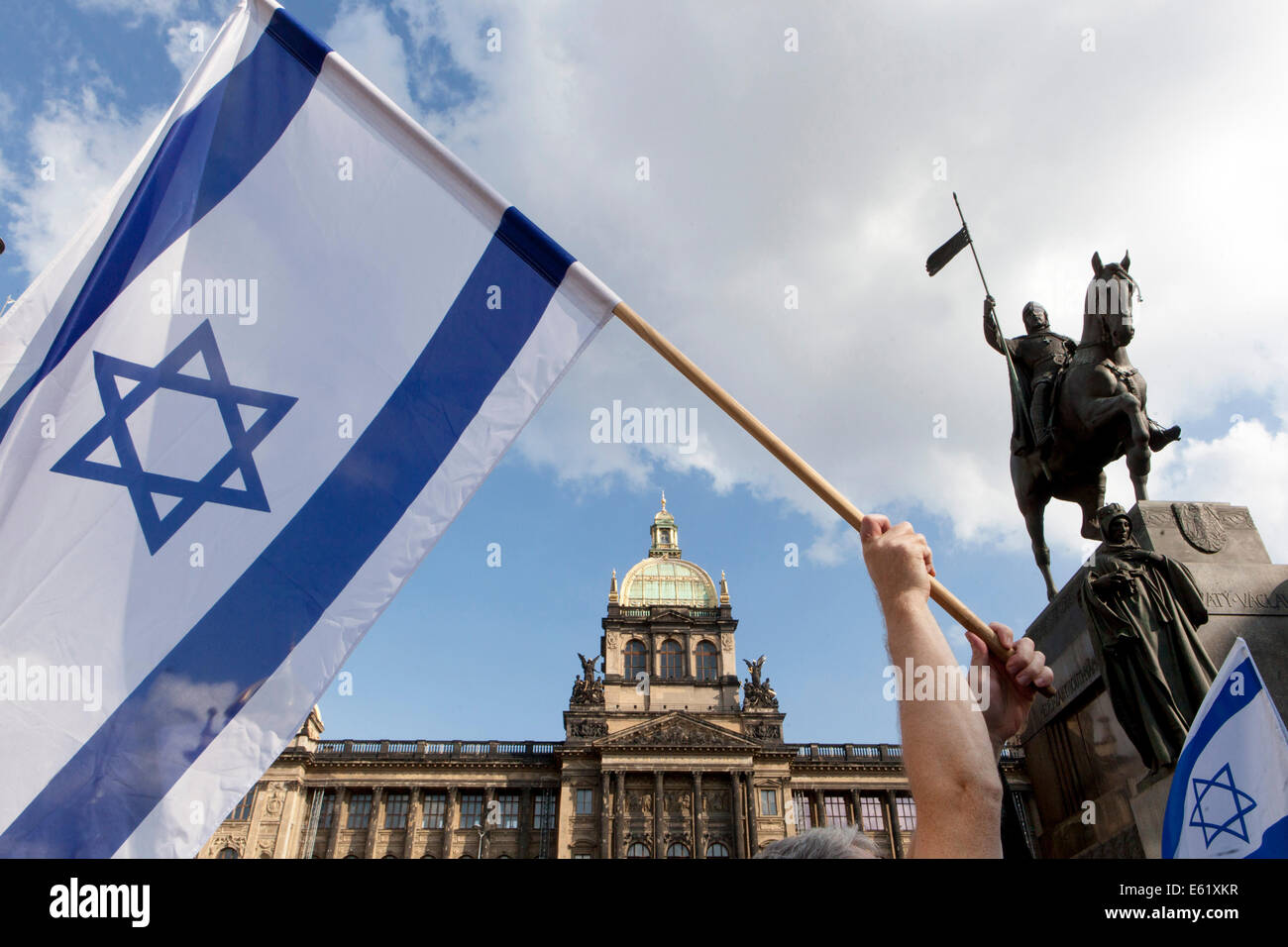 Demonstration in support of Israel, Prague Czech Republic - Stock Image