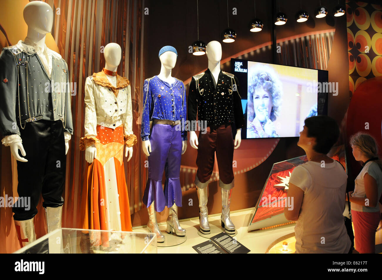ABBA The Museum is an interactive exhibition about the pop-group ABBA that opened in Stockholm, Sweden in May 2013. - Stock Image