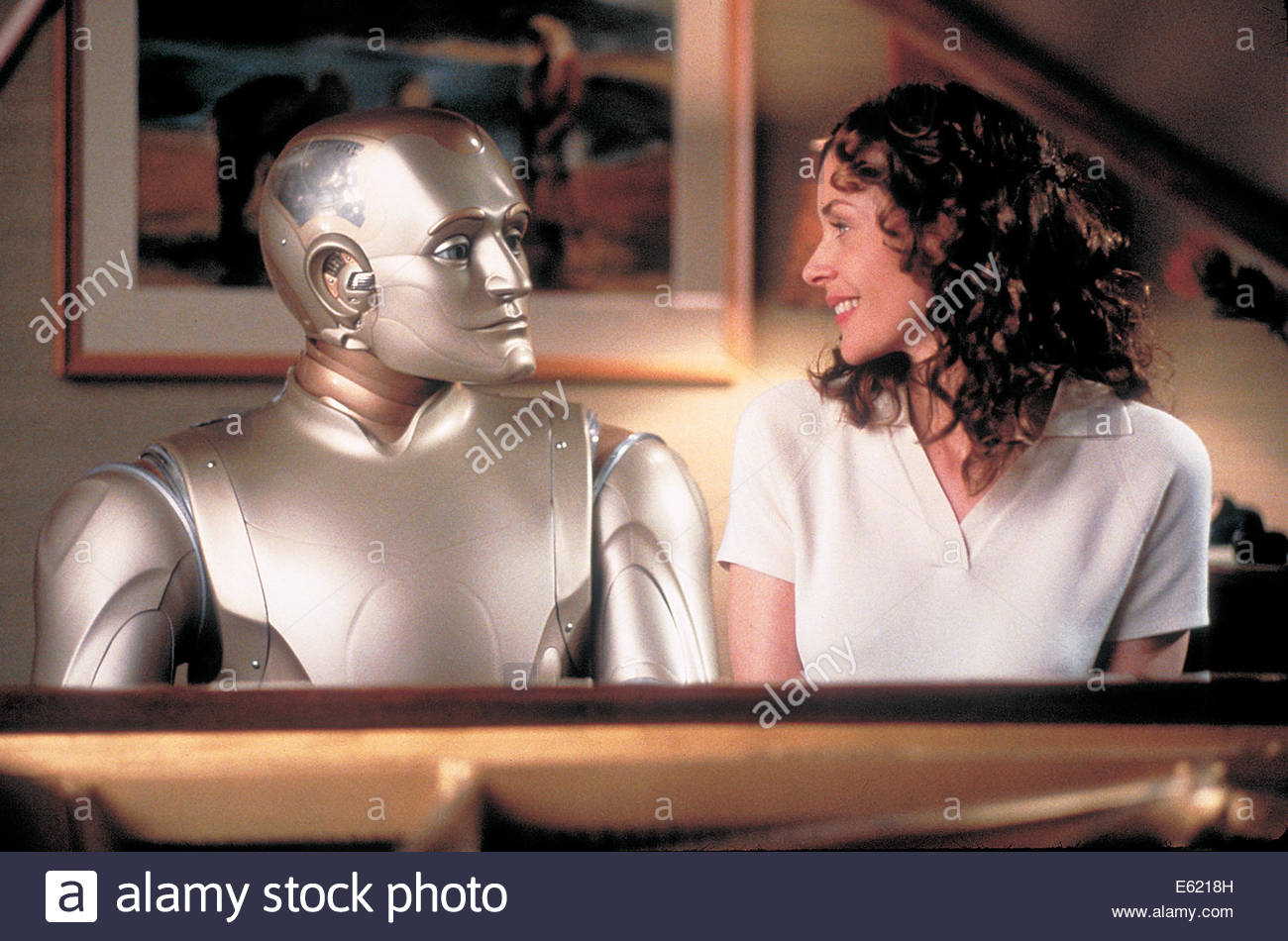 Bicentennial Man  (1999) PICTURED:  ROBIN WILLIAMS, EMBETH DAVIDTZ. Courtesy Granamour Weems Collection.  Editorial - Stock Image