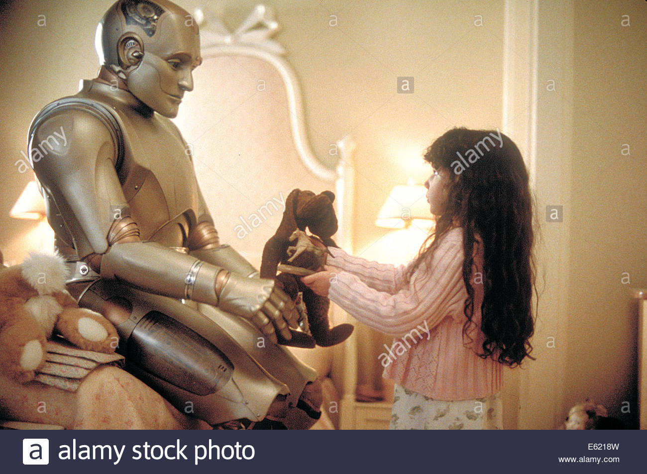 Bicentennial Man  (1999) PICTURED:  ROBIN WILLIAMS, Hallie Kate Eisenberg . Courtesy Granamour Weems Collection. - Stock Image