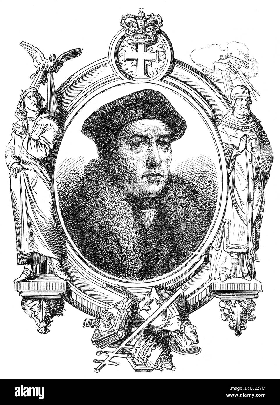 Thomas Cranmer, 1489-1556, a leader of the English Reformation and Archbishop of Canterbury, - Stock Image