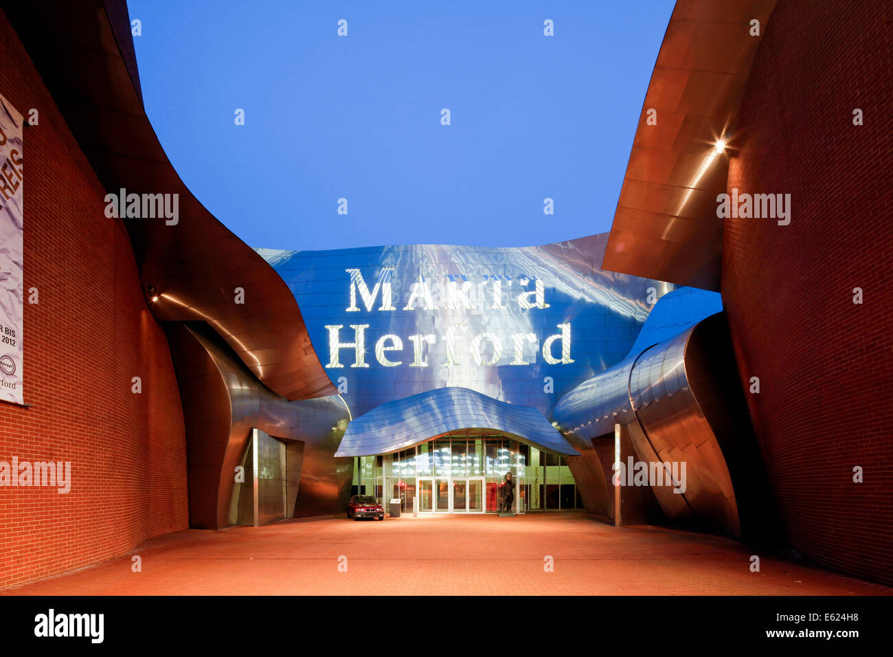MARTa Herford, contemporary art and design museum of 21st century, by architect Frank O. Gehry, Herford, Westphalia - Stock Image
