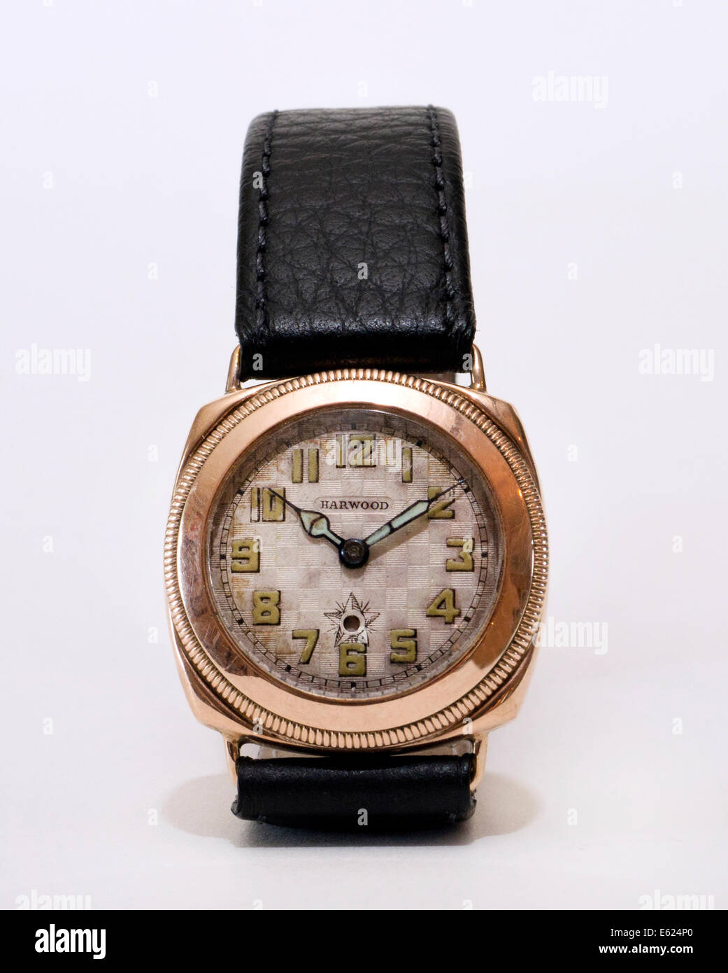 Harwood  British wrist watch. - Stock Image