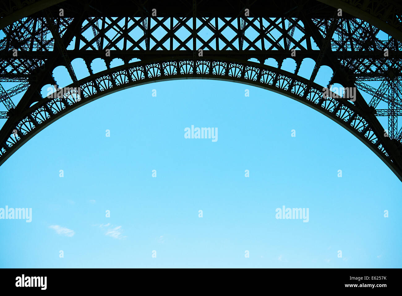 Eiffel Tower Paris close up of metalwork - Stock Image