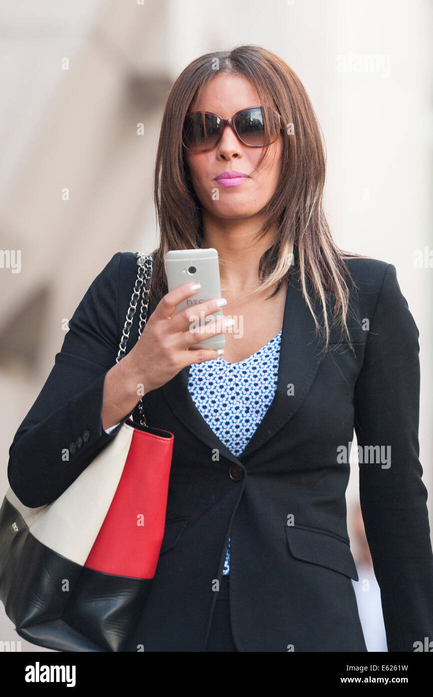 Old Bailey, London, UK. 12th August 2014. Amal El-Wahabi and Nawal Msaad arrive at the Old Bailey in London who - Stock Image