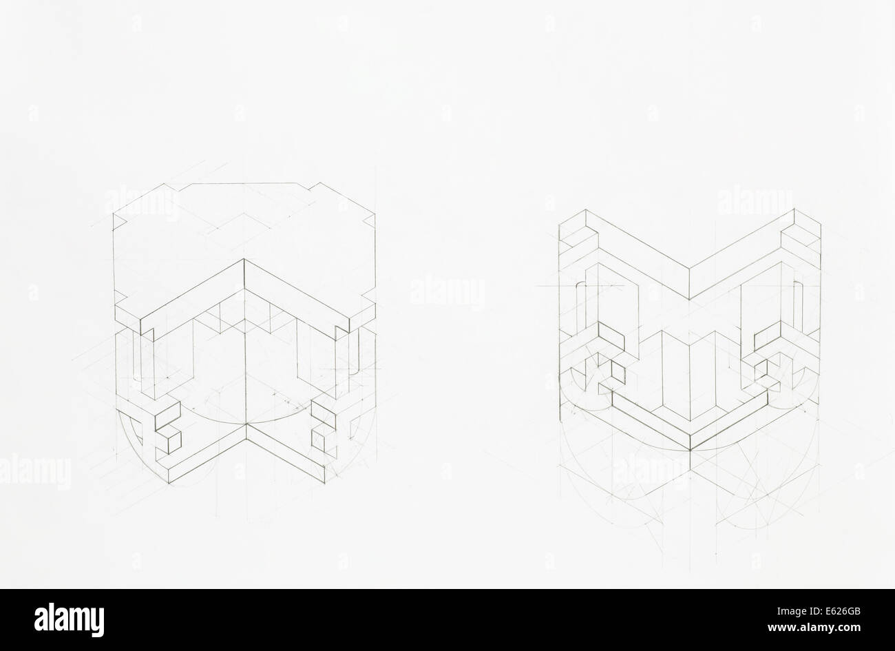 Architectural style cut out stock images pictures alamy architectural blueprint of structure of vaulted arch overview stock image malvernweather Image collections