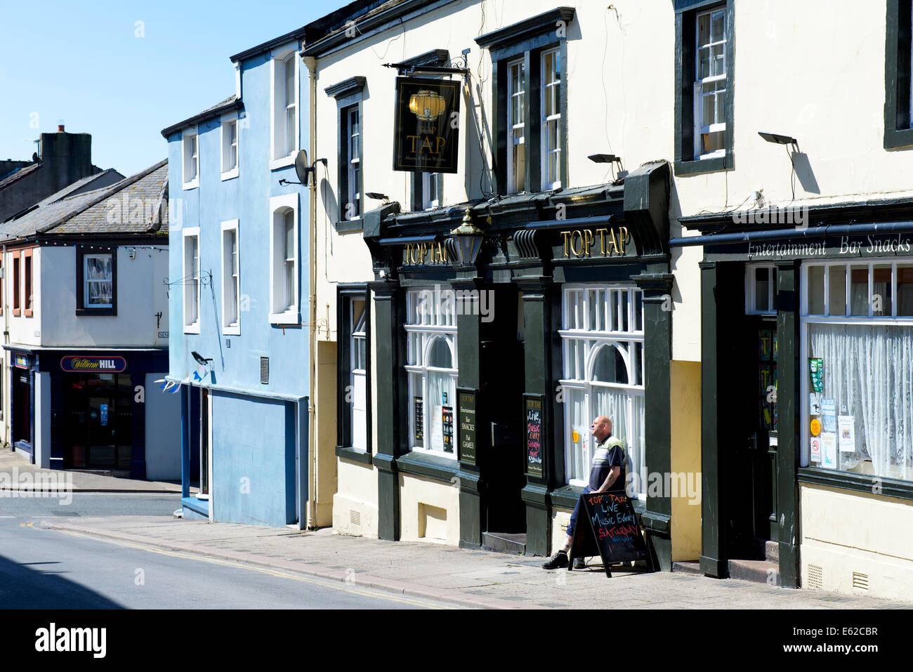 The Top Tap pub in Maryport, West Cumbria, England UK - Stock Image