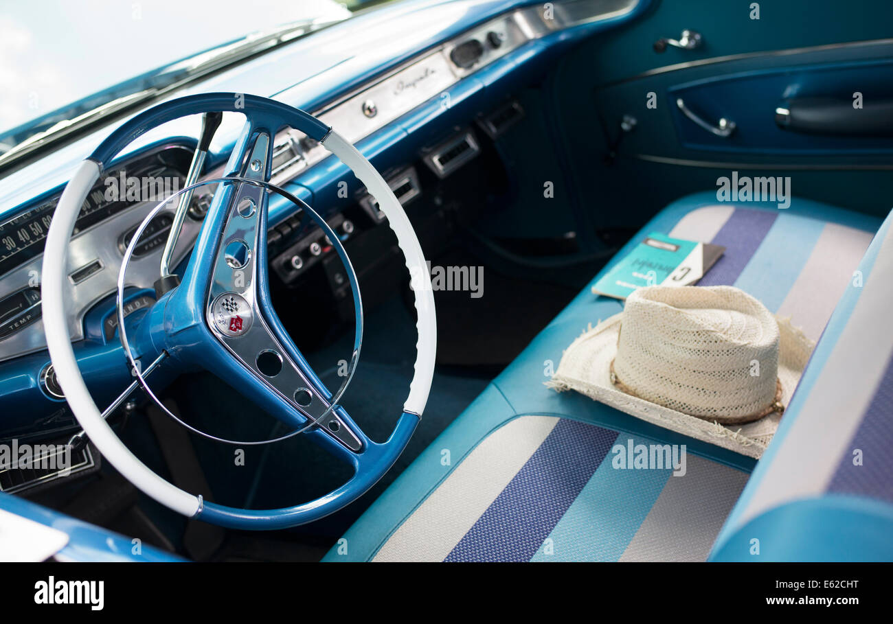 1957 Chevrolet Bel Air Interior With Straw Hat Chevy