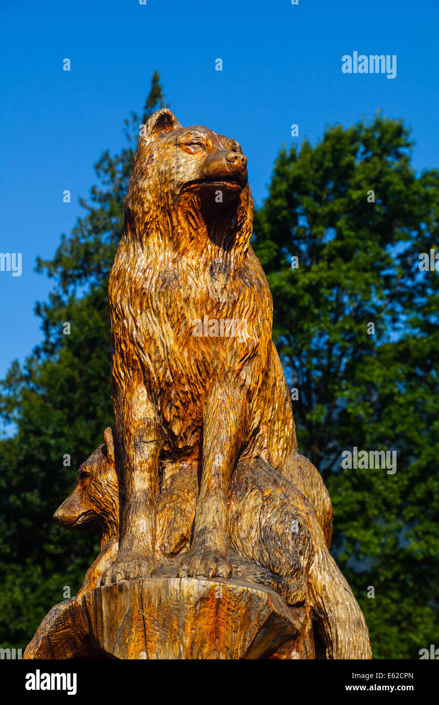 Chainsaw carvings original hand crafted art by wolf creek