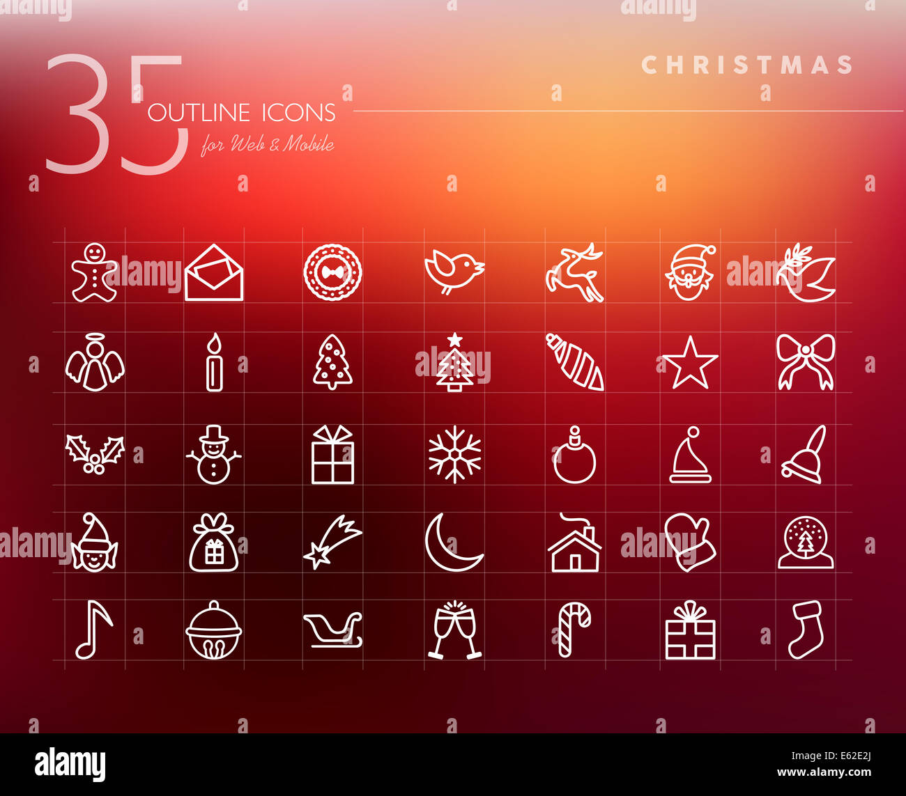 App Weihnachtsbilder.Christmas Bauble Vector Icons Set Stock Photos Christmas Bauble
