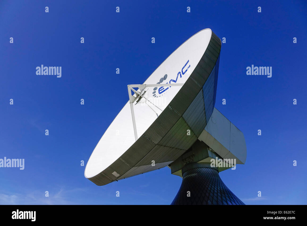 Satellite dish, Raisting Satellite Earth Station, ground station, satellite communications, Upper Bavaria, Germany, Stock Photo
