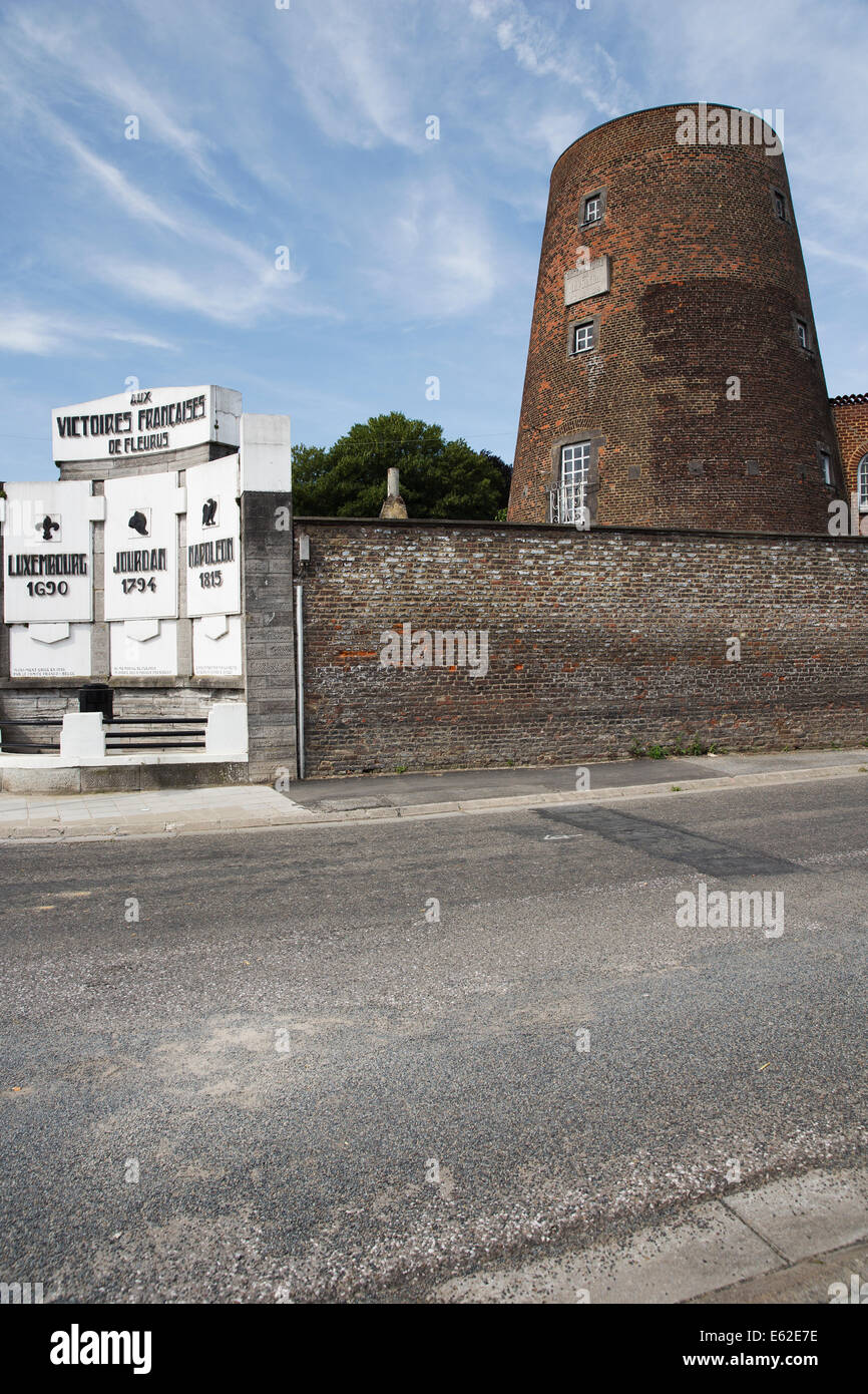 Monument of the three french victories in Fleurus - Stock Image