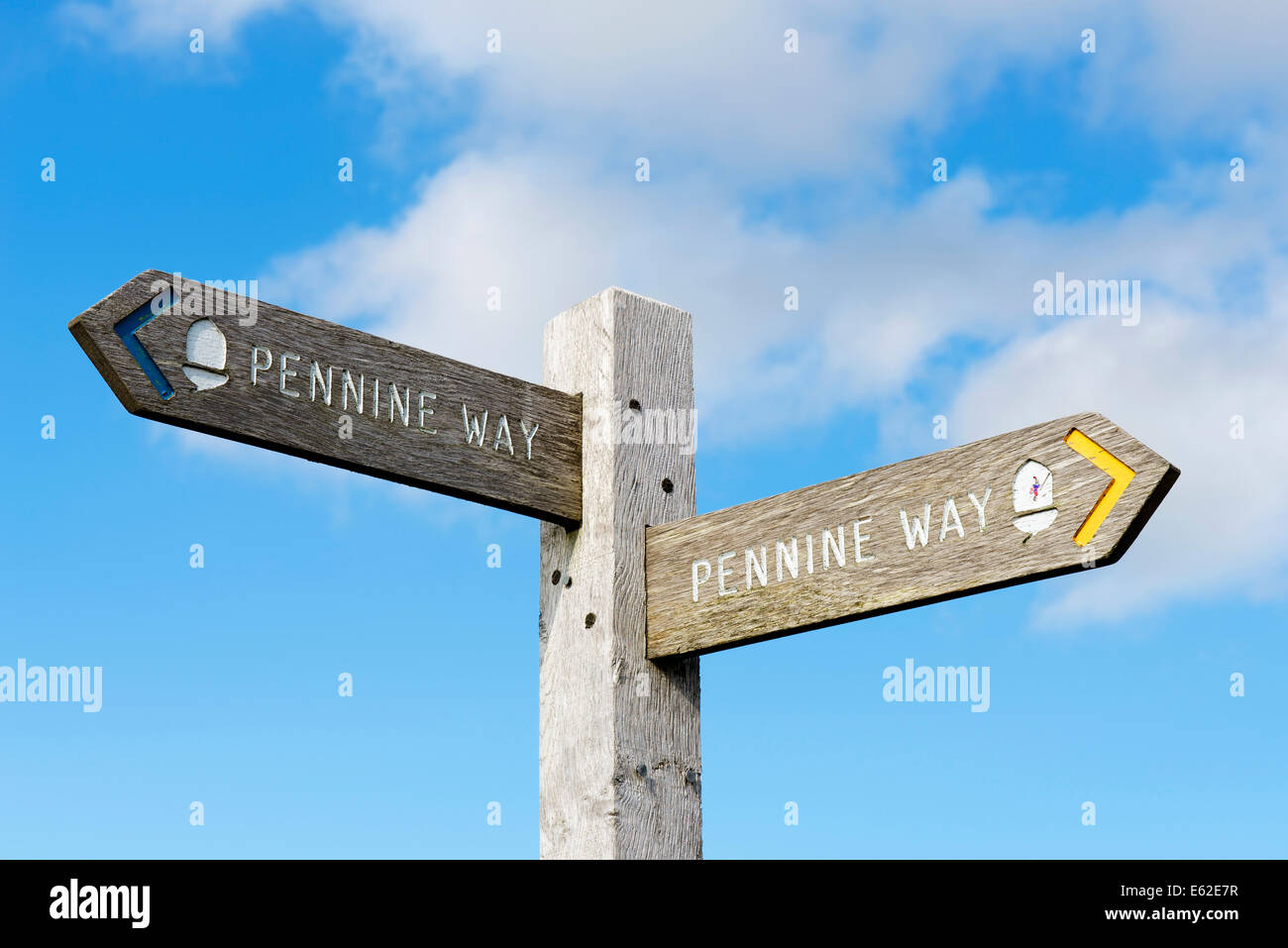 Pennine Way sign - Stock Image