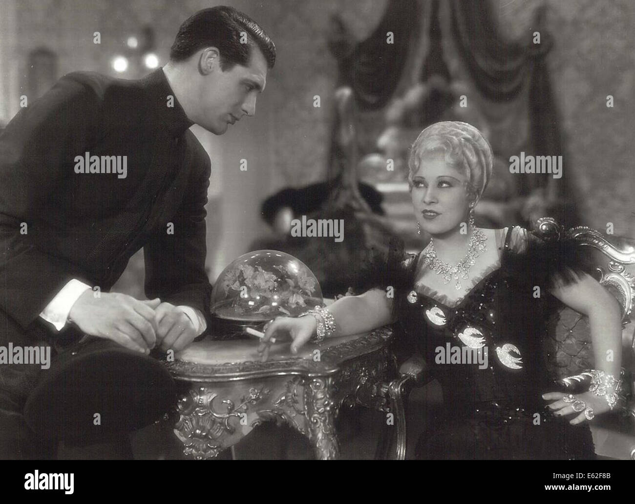 SHE DONE HIM WRONG -   Mae West, Cary Grant -  Directed by Lowell Sherman - Paramount 1933 - Stock Image