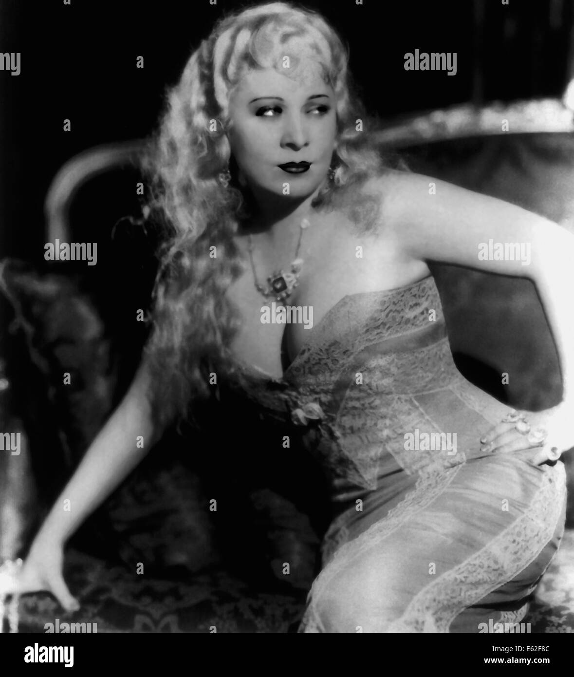 SHE DONE HIM WRONG -   Mae West  -  Directed by Lowell Sherman - Paramount 1933 - Stock Image