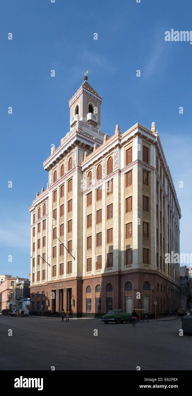 Bacardi building, art deco masterpiece, Havana, Cuba - Stock Image