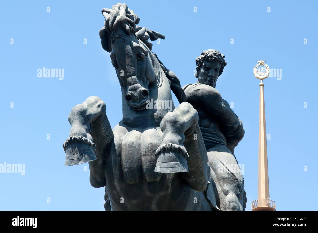 David of Sassoon (Sasuntsi Davit) horse statue, Yerevan, Armenia Stock Photo