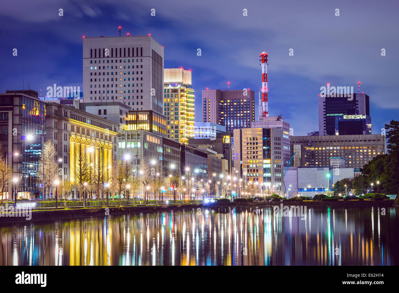 Tokyo, Japan cityscape at Marunouchi district. - Stock Image